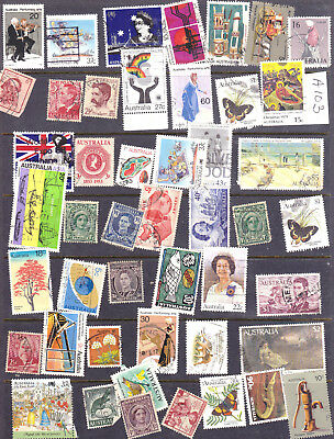 Australia Mixed Lot of mostly pre 1975 stamps as Scan A103