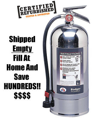 Badger Class K Wet Chemical Fire Extinguisher WC-100 Save $$ Fill At Home!