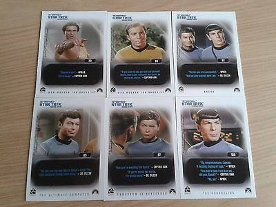 The Quotable Star Trek The Original Series TOS Base Cards 1-110 Singles