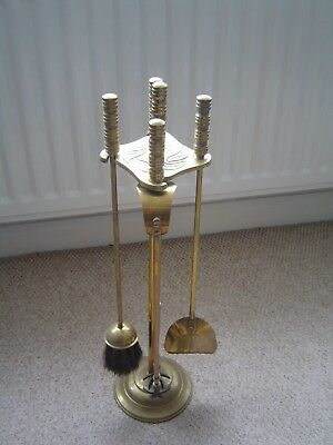 "Vintage Brass Companion Set - 24"" High - Fireside Set - Retro"