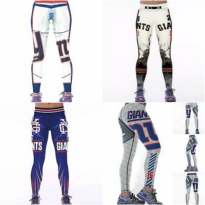 00acb5d8a2 New York Giants Women Leggings Fitness Yoga Sewing Quality Guaranteed