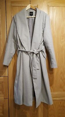 Grey Maternity Coat, Size 16, New Look