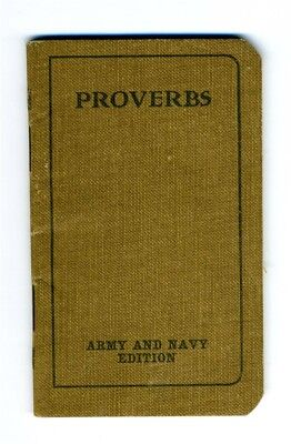 Proverbs Booklet Army and Navy Edition World War I