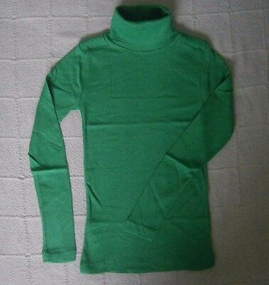 Vintage Stretch Polo-Neck Top - Age 4 Years - Green - 100% Cotton - New