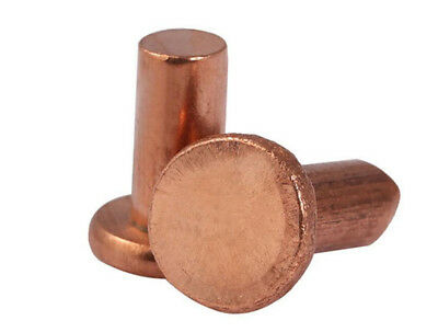 Red Copper Flat head Solid rivets M6 M8 rivet
