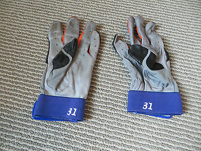 Mike Piazza Game Used Batting Gloves New York Mets MLB Baseball Catcher All Star