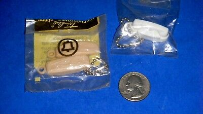 Vintage Bell Telephone Keychains - Trimline Touchtone & Princess Rotary