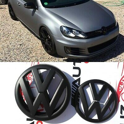 Vw Volkswagan Golf Mk 6  Gti R Mk   Matte Black Front Grill/Boot Badge 2009-2013