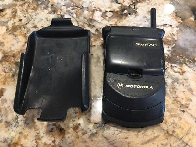 Motorola StarTAC Collectable Cell Phone With Belt Holster Clip