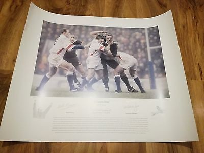 Magnificent Signed England Rugby Print.lions.wasps.superb! Look!!