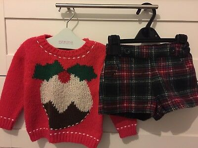 Next Girls Christmas Outfit 12-18 months