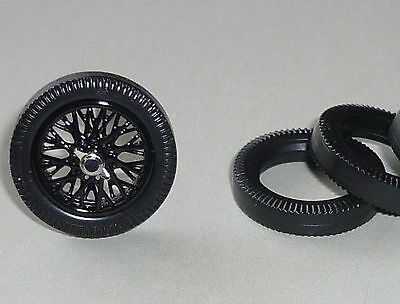 Spoke wheels (black) scratchbuilding or for replacement - ideal for 1:32 scale