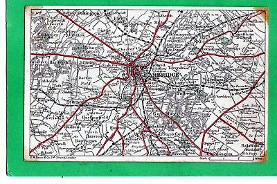 CAMBRIDGE  PRE 1918  MAP OF THE AREA  -  BACON`S EXCELSIOR postcard  UNPOSTED