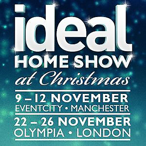 2 adult tickets ideal home show at Christmas Manchester