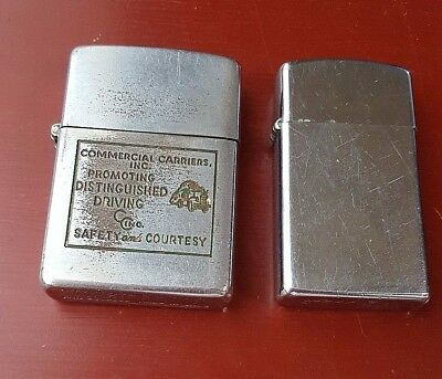 Lot of 2 Vintage Zippo Lighters