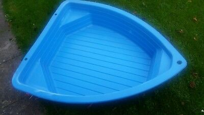 Blue Play Boat Sand Pit Paddling Pool Ball Pit Outdoor Garden Childrens Toy