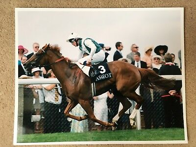 BOSRA SHAM 10x8 PHOTO winning the Prince of Wales in 1997 Kieren Fallon