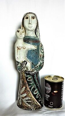 1950s Mother & Child figure by Jean Derval, Vallauris Pottery France.Signed.35cm