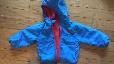 North Face Reversible Jacket/coat, 6-12M, Blue/red