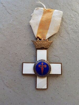 Wwii German Spanish Medal -Military Constancy Cross -Blue Division 100% Original