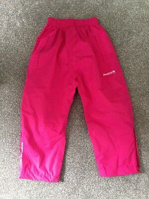 Pink Regatta girls waterproof trousers age 3-4