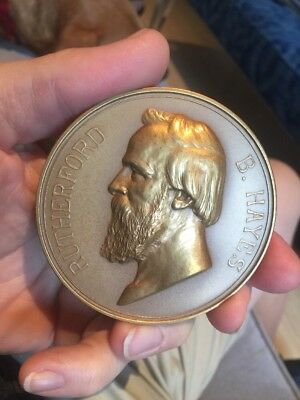 Rare US Treasury Reissue Rutherford Hayes Presidential Inaugural Medal Wow!!