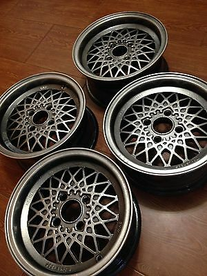 Original BBS Mahle 13 inch wheels (4*100 6J ET13)  BMW 2002, e10, e21