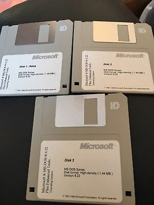 Microsoft DOS 6.22 Plus Enhanced Tools Floppy