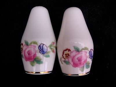 "Vintage COALPORT ""JUNETIME"" Salt and Pepper Shakers"