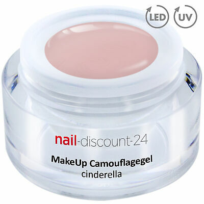 Premium XL Camouflage UV Gel Make Up cinderella 15ml Aufbau Nagel Cover Aufbau