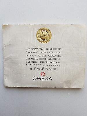 Vintage 1964 Omega Wristwatch International Guarantee Booklet, used, one owner