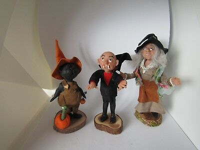 Halloween 3 special characters ooak Witch, dracula & one other!! By KastleKelm