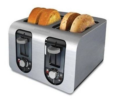 Black & Decker Stainless Steel Extra Wide Slot Extra Lift 4 Slice Toaster