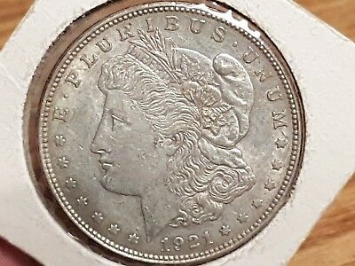 1921 American Silver One Dollar Coin - USA Morgan Dollar