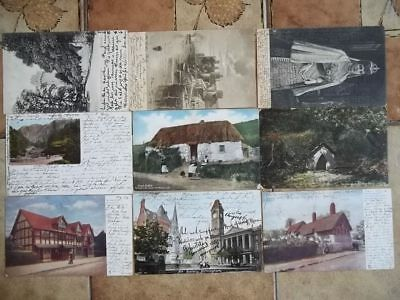 England Gb Uk Nice Collection 21 Old Cards Stationery !! Look Pictures !!