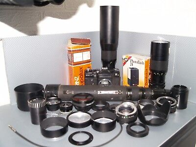 Job lot lens cameras adapters hoods converters photography other bits lot 4
