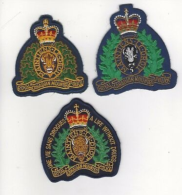 Royal Canadian Mounted Police Patch Set of 3- Canada