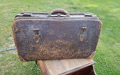 Antique Rare Peerless  Luggage Travel Bag 1926 Leather Collectable