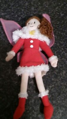 small fairy doll hit brand red dress christmas theme