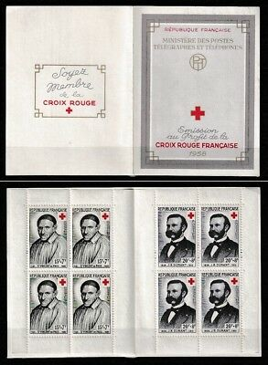 TIMBRES FRANCE 1958 - Carnet Croix-Rouge N**