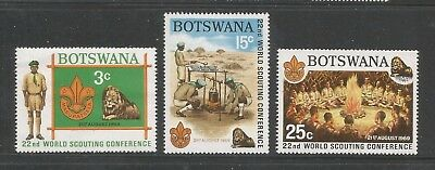 BOTSWANA – 1969 – BOY SCOUTS ISSUE - Scott #51-53 – SET OF 3 – MNH