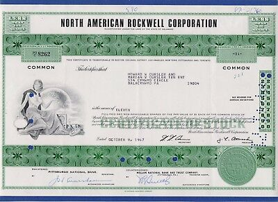 010 USA 1967 Aktie - North American Rockwell Corporation, 11 Shares