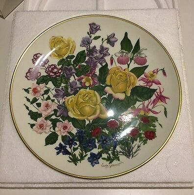 Franklin Mint, Flowers Of The Year Plate Collection, 1977 Flowers Of June