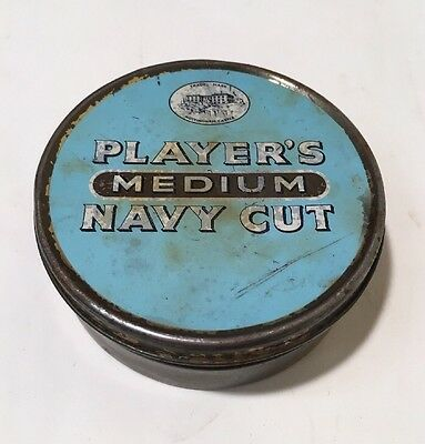 Vintage Tobacco Tin Players Navy Cut Medium