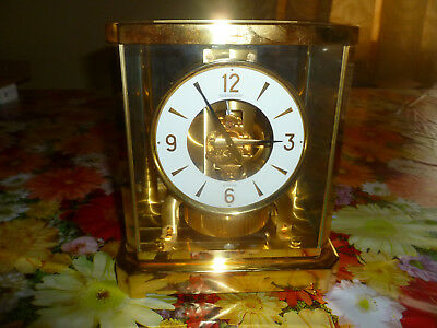 Jaeger le Coultre Atmos 528-8 Perpetual Motion Brass Clock 393697 1970's