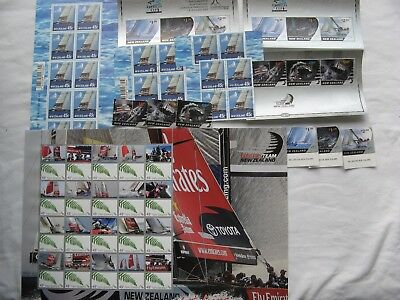 New Zealand America's Cup Stamp Collection