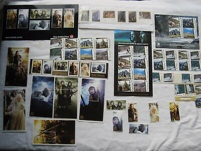 Great New Zealand Mint Lord of the Rings Stamp Collection Kiwipex