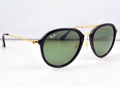 Ray Ban Highstreet Round Double Bridge RB4253 Sunglasses & Case