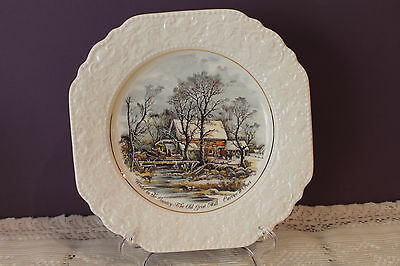 Lord Nelson Pottery Currier & Ives Decorative Plate - Winter In The Country
