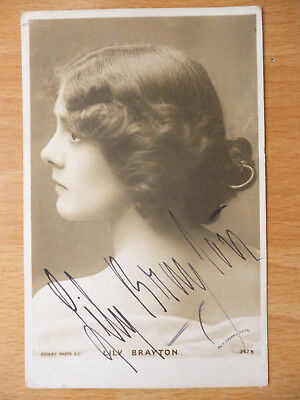 Lily Brayton  Actress Signed Autographed Postcard